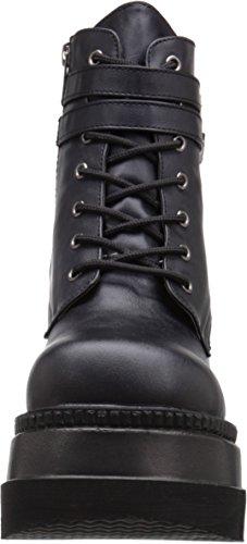Pleaser Shaker 52, Botines para Mujer Negro - Black (Blk Vegan Leather)