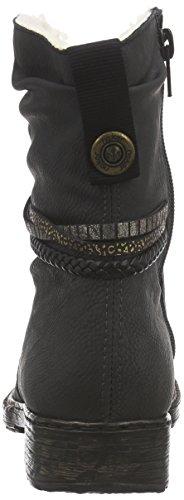 Rieker79264 - Botas y botines forrados cálidos de estilo cowboy de caña media Mujer Gris - Grau (rauch/schwarz/moro-gold/oro / 46)