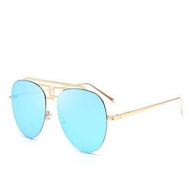 MNGF&GC Nuevas gafas de sol tipo aviador color metálico rana ...