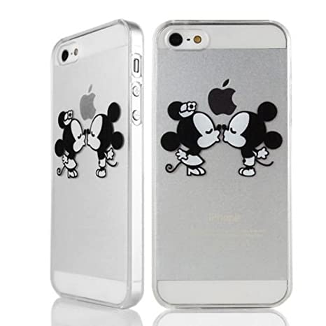 Sufs - Carcasa para iPhone, transparente, diseño de Disney, Mickey Mouse Kiss, iPhone 4/4G/4S