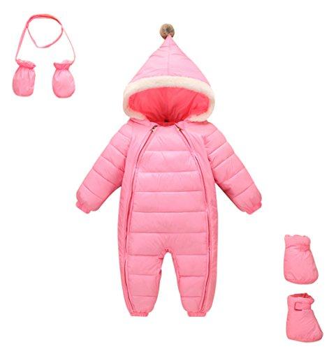 3 Pieces Baby Girls Boys Snowsuit Romper Winter Warm Jumpsuit Romper