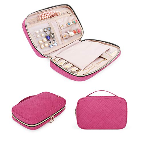 BAGSMART Travel Jewelry Storage Cases Jewelry Organizer Bag for Necklace, Earrings, Rings, Bracelet ()