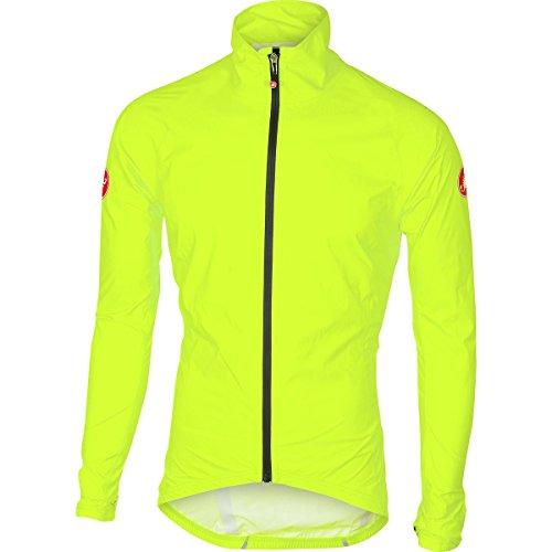 Technical Mens Cycling Jackets (Castelli Emergency Rain Jacket - Men's Yellow Fluo, XL)