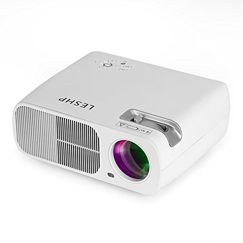 Projector LESHP Display Support Smartphone