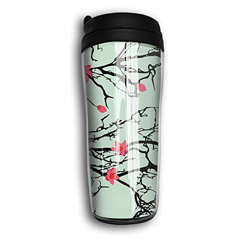 Tree Japanese Cherry Travel Mug Coffee Thermos Stainless Steel Flask Water Bottle by Sam-Uncle