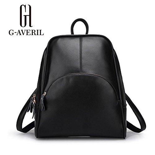 G-AVERIL GA1059-C - Bolso mochila  para mujer negro blanco negro