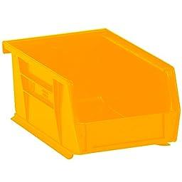 Aviditi BINP0965Y Plastic Stack and Hang Bin Boxes, 9 1/4\