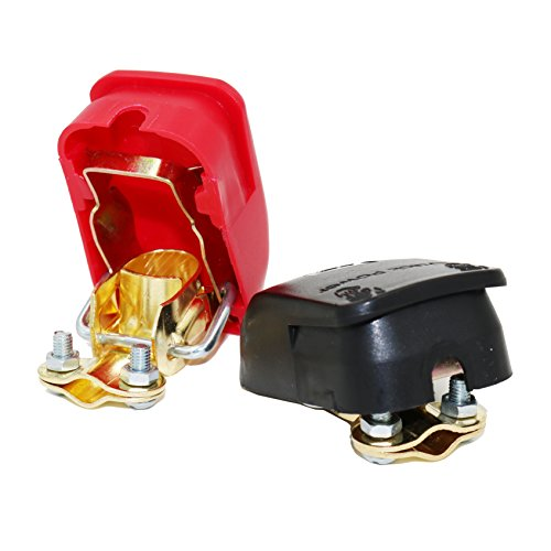 MOTOPOWER MP69011 Battery Quick Release Connectors Battery Quick Disconnect Terminals (Red & Black) ()
