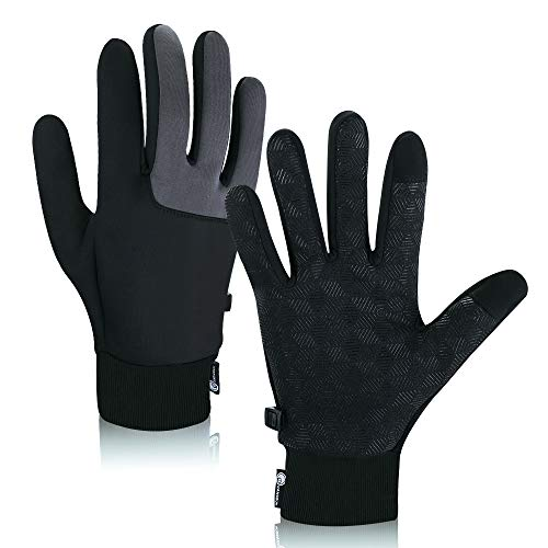 Winter Gloves,Touch Screen Gloves Windproof Cycling Gloves Skiing Driving Running Non-Slip Outdoor Gloves for Men and…