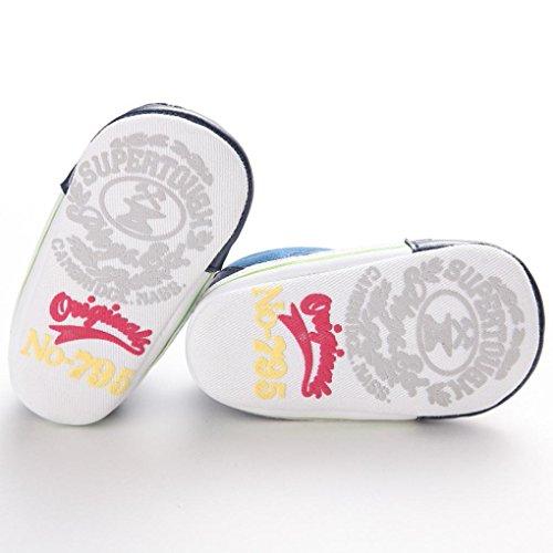 Tefamore zapatos bebes sneaker de primeros pasos de antideslizante de sole suave de moda invierno de calentar de Lona Azul