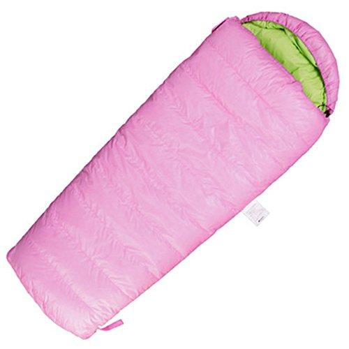 xhhwzb子封筒SleepingバッグホワイトGoose Down for Kidsキャンプブルーピンク2つの方法ジッパー16070 CM B07F6FXS3V  ピンク