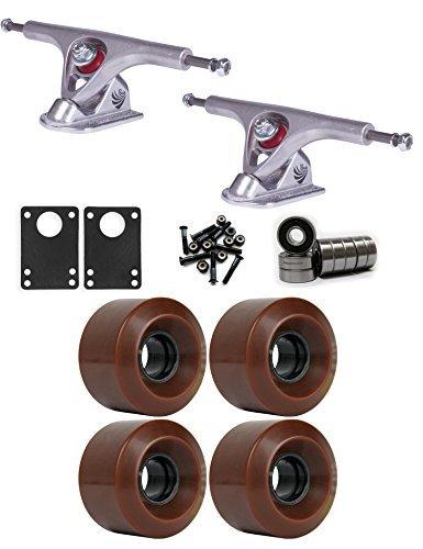 臨検国籍曲線パリLongboard Trucksホイールパッケージ60 mm x 41 mm 83 a 1545 Cブラウン [並行輸入品]