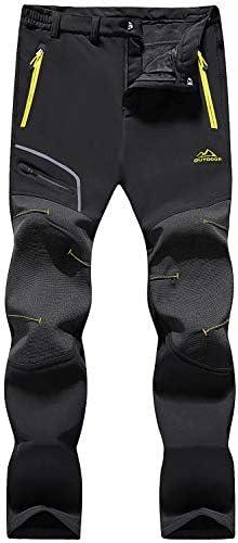 MAGCOMSEN Womens Winter Pants Warm Fleece Lined Hiking Water Resistant Snow Skiing Pants