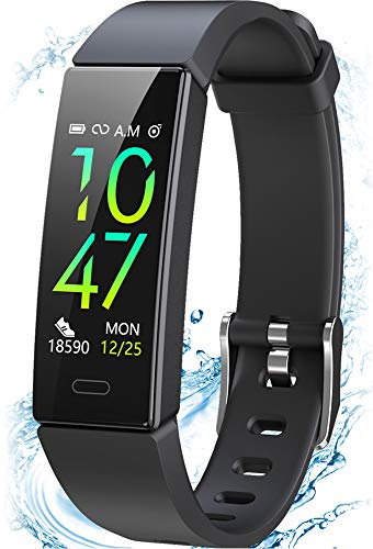 SIKADEER Fitness Tracker, Activity Tracker with Blood Pressure Heart Rate Monitor, IP68 Waterproof Fitness Watch Step Counter, Calorie Counter, Pedometer Watch for Men Women Kids