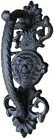 Pomos de Las Puertas One Heavy Duty Vintage Negro Sólido Hierro Fundido Corredizo Granero Puerta Tirador Manija Baranda Barra de Agarre - Diseño rústico Industrial (Color : Black, Size : One Size)