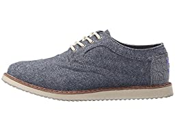Toms Boys 10009225 BLUE CHAMBRAY Brogue, Blue, 12 M US Little Kid