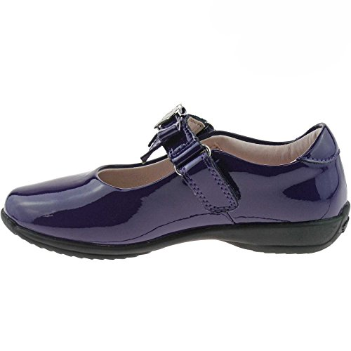 DW01 Kelly Width 25 Dolly School F UK LK8000 7 Shoes Patent Purple Lelli Rachel EvZdwPdq