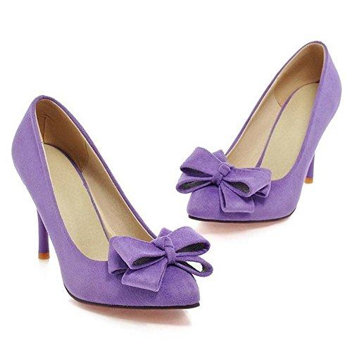 Purple TAOFFEN Elegant Stiletto Women Pumps 12 ICTwYq
