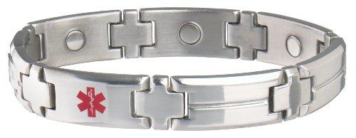 Sabona Men's Diabetic Med Id Magnetic Bracelet, L/XL (Id Bracelet Med)