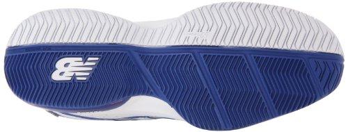 888098093469 - New Balance Women's WC786 Tennis Shoe,White/Pink,6 D US carousel main 2