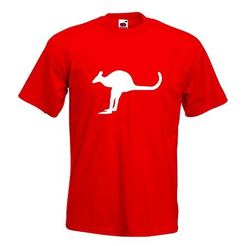 L Différentes Homme Coton En Xl Kangourou Fun Imprimé M Xxl 15 Motif Marsupial Rouge Kiwistar S shirt Couleurs T TPxRIpq
