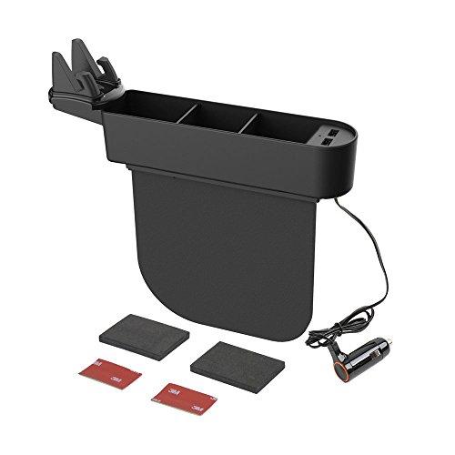 SEIKOSANGYO CO.,LTD. Console Side Pocket Storage Organizer with Smartphone Holder, USB Power Supply for Seat Gap
