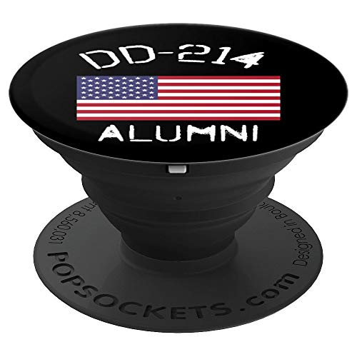 DD-214 Alumni USA Active Duty Discharge Veteran - PopSockets Grip and Stand for Phones and Tablets (Tee Alumni)