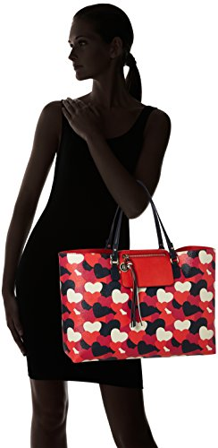 Tommy Hilfiger Love Reversible Tote Heart, Cabas femme, Rot (Heart Print), 13x31x46 cm (L x H P)