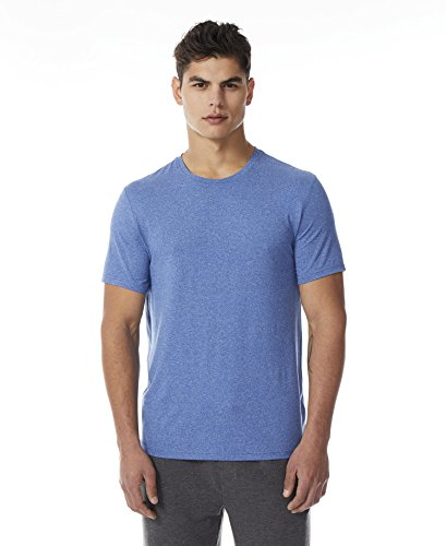 - 32 DEGREES Mens Cool Crew Neck Wicking Tee Shirt, Heather Royal Blue, Large