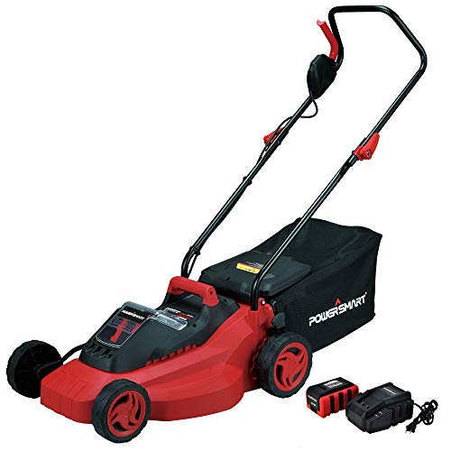 PowerSmart PS76215A Cordless Lawn Mower, 3Ah Battery and Charger Included (Best Rated Push Lawn Mowers)