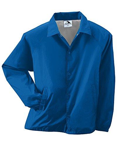 - Augusta Sportswear mens Lined Nylon Coach's Jacket(3100)-ROYAL-4XL