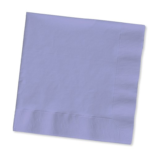 (Creative Converting 139186135 Touch of Color 2-Ply 50 Count Paper Lunch Napkins, Luscious Lavender)