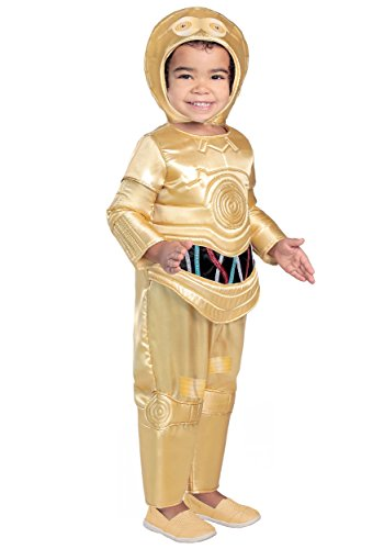 (Princess Paradise Classic Star Wars Premium Toddler C-3Po Costume, Gold,)