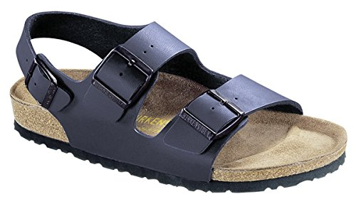 Birkenstock Milano Leather Sandals, Blue, 38 ()