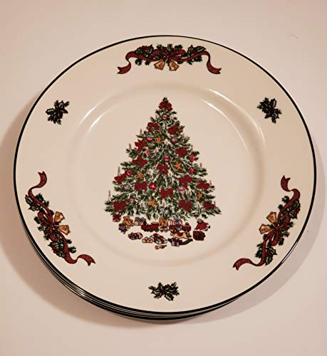 Johnson Brothers Victorian Christmas Salad Plates Set of Four Brand New Dishwasher Safe Microwave Safe