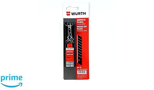 -Würth 4050382482266 - 10 cuchillas de repuesto muy afiladas,18 mm: Amazon.es: Bricolaje y herramientas