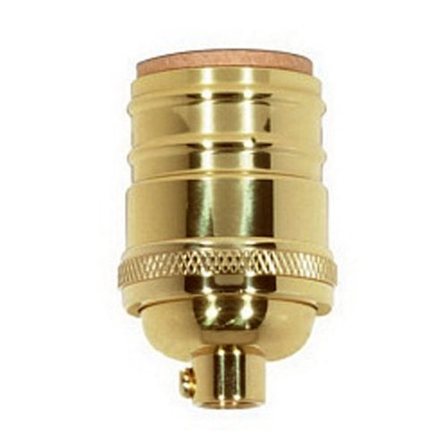 Keyless Light Socket - Solid Brass - Short - Medium Base - 1/8 IPS - PLT 80-1054