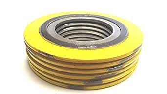 Pressure Class 300# Pack of 24 of NJ for 6 Pipe Sterling Seal 9000IR6316GR300X24 316L Stainless Steel Spiral Wound Gasket with 316SS Inner Ring and Flexible Graphite Filler for 6 Pipe Pack of 24 Supplied by Sur-Seal Inc