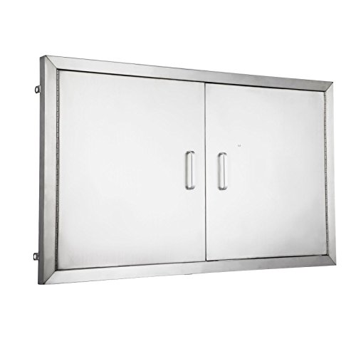 Happybuy BBQ island Door 36 Inch Flush Mount BBQ Access Door Commercial 304 Brushed Stainless Steel for Outdoor Kitchen (Doors Access Commercial)
