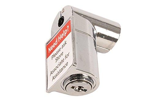 FFR Merchandising 7909247425 Keyed Peg Hook Lock, Single Wire Hook, Bulk Pack (Pack of 20) by FFR Merchandising