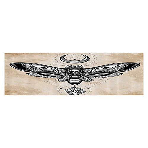 Auraise Heybee Fish Tank Background Dead Head Hawk Moth with Luna and Ste Spiritual Magic Skull Wallpaper Fish Tank Backdrop Static Cling -