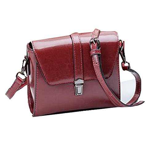 Sac Cross Body Femmes à Bag Red Messenger Cuir Vintage Main Épaule CrFFwRUq