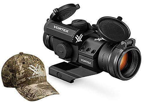 Vortex Optics Strikefire II Red Dot Sight - 4 MOA Red/Green Dot with Vortex Hat (Best Red Dot Magnifier For The Money)