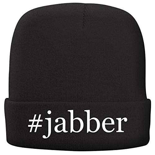 BH Cool Designs #Jabber - Adult Hashtag Comfortable Fleece Lined Beanie, Black -