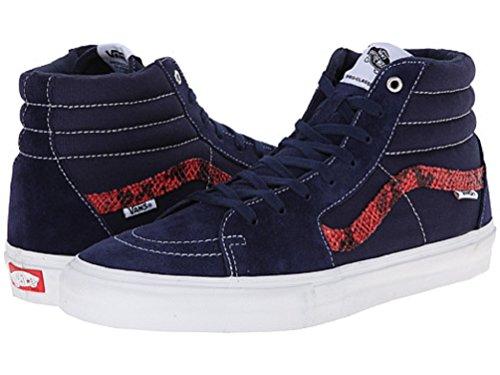 Vans Mens Sk8-Hi Pro Skateboarding Shoes (Snakeskin) Navy 3K4uf