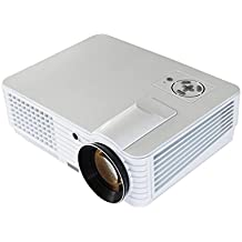 Led Projector 2200 Lumensandroid Tablet Projector 1080P HD 3D Led Video Projector For Home Theater Entertainment,White