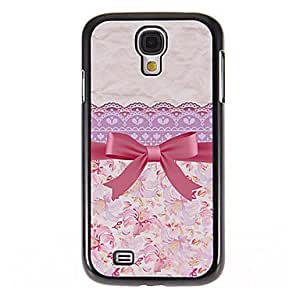 Bowknot and Flowers Pattern Mirror Smooth Back Hard Case with HD Screen Film 3 Pcs for Samsung S4 I9500