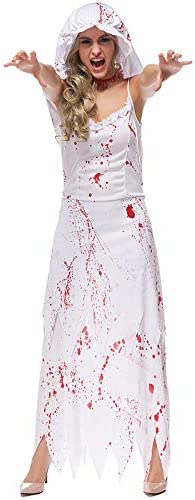 Shi18sport Disfraces De Purim De Halloween para Mujer White Blood ...