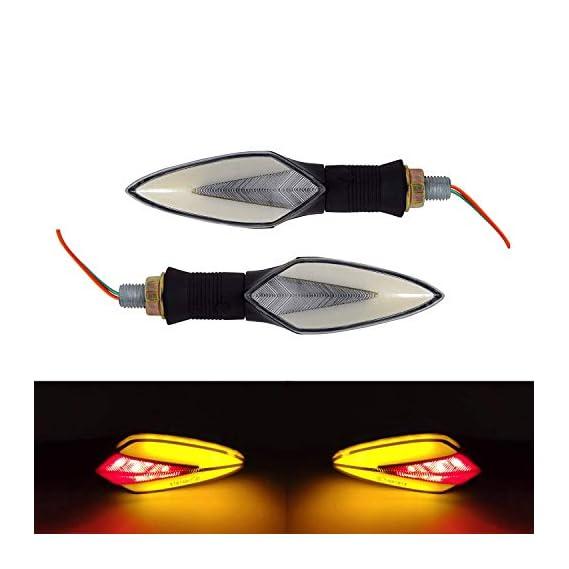 Ramanta Universal 2X Motorcycle Neon LED Amber Turn Signal Light Indicator Blinker Brake Lamps for Yamaha YZF R15 V3