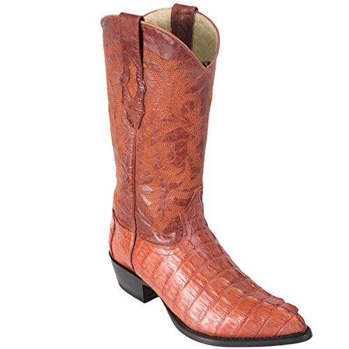 Original Cognac Caiman (Gator) Tail LeatherJ-Toe Boot